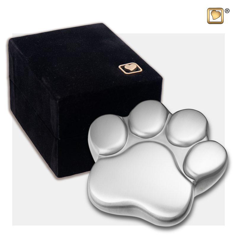 LovePaw Pet Keepsake Urn Bru Pewter P672K_v