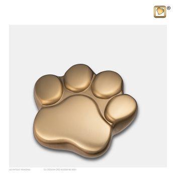 LovePaw Pet Keepsake Urn Brushed Gold P673K