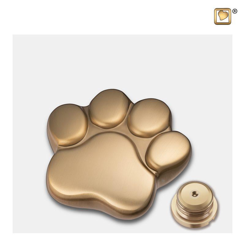 LovePaw Pet Keepsake Urn Brushed Gold P673K_c