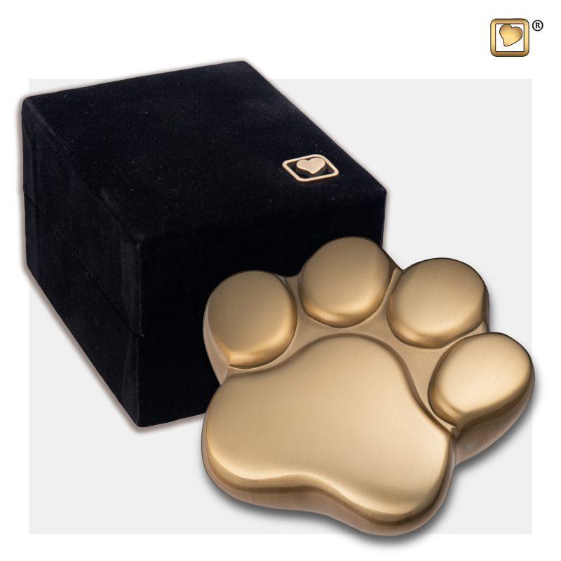 LovePaw Pet Keepsake Urn Brushed Gold P673K_v