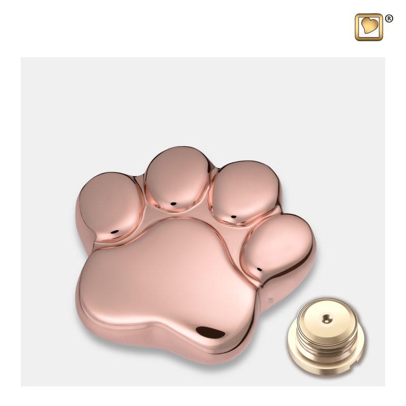 LovePaw Pet Keepsake Urn Polished RoseGold P675K_c