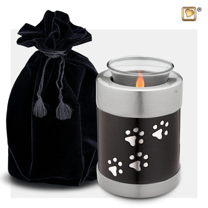 Pet Tealight Urn Midnight & Bru Pewter T655