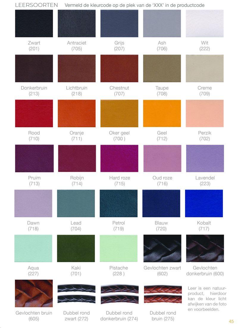 Kleurkaart Leer
