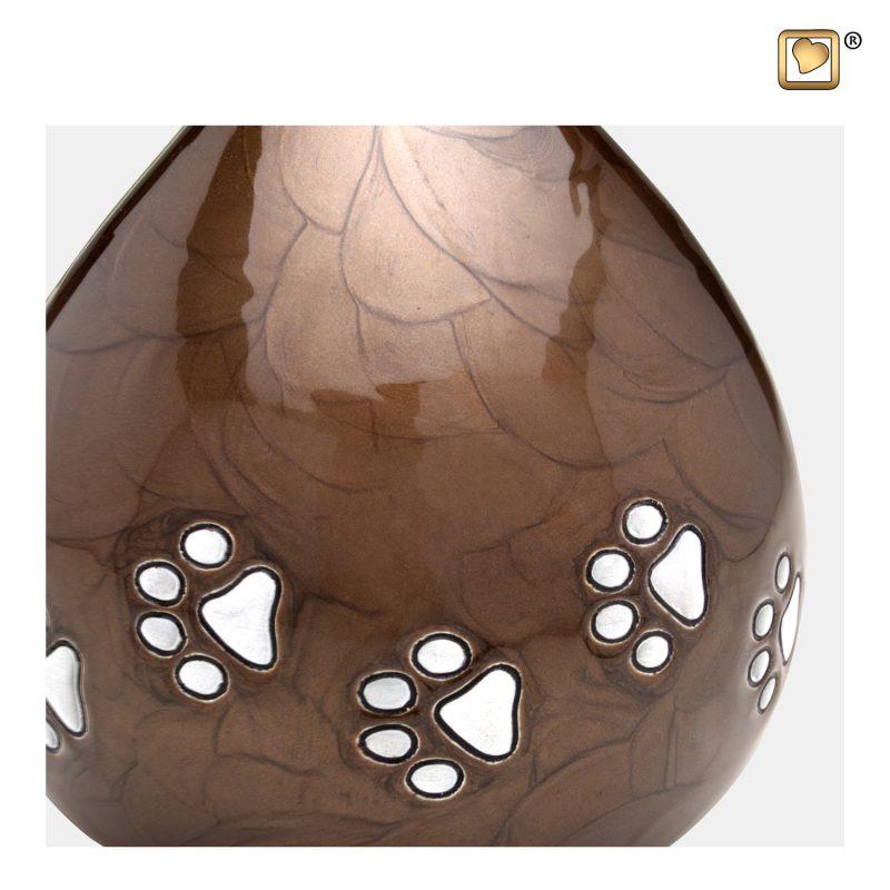 LoveDrop Pet Urn Pearl Bronze & Bru Pewter P634_a
